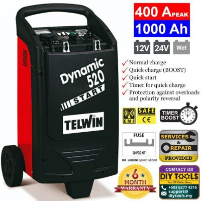 TELWIN Battery Charger and Starter Dynamic 520 Start