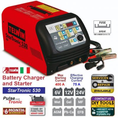 TELWIN Battery Charger and Starter �C StarTronic 530