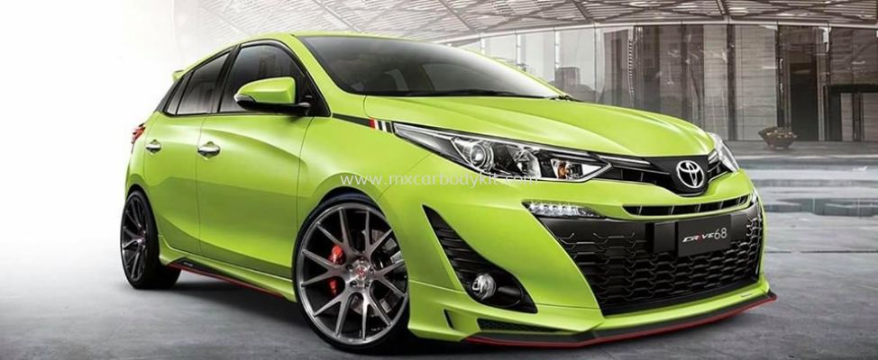 TOYOTA YARIS 2019 DRIVE 68 BODYKIT WITH SPOILER