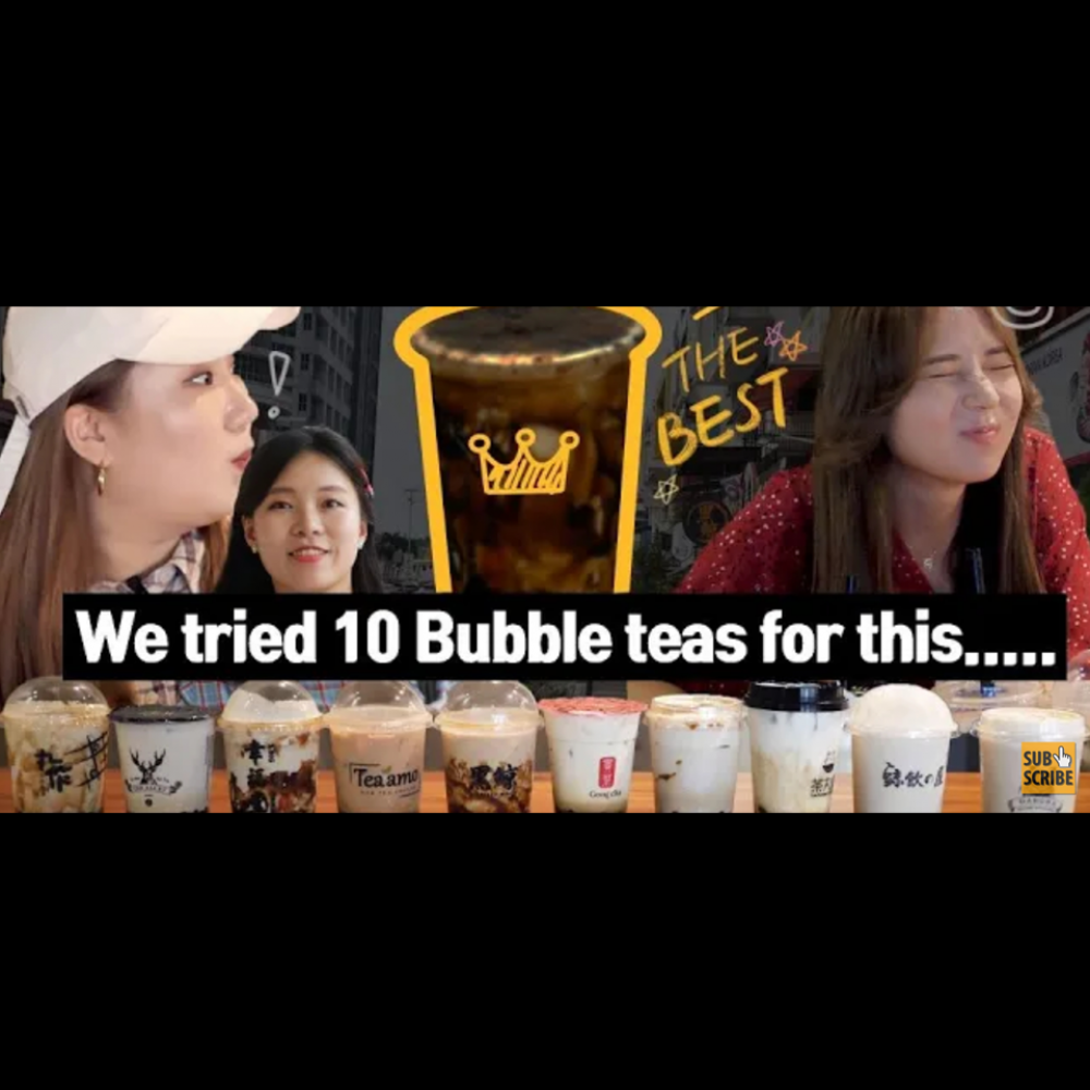 The Best Bubble Tea Recommended by Korean Youtuber