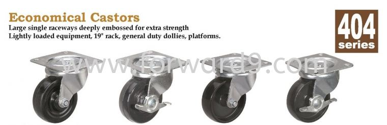 404 Series Top Plate Hard Rubber Castor Wheel  Light Duty Castor  Castors Wheel