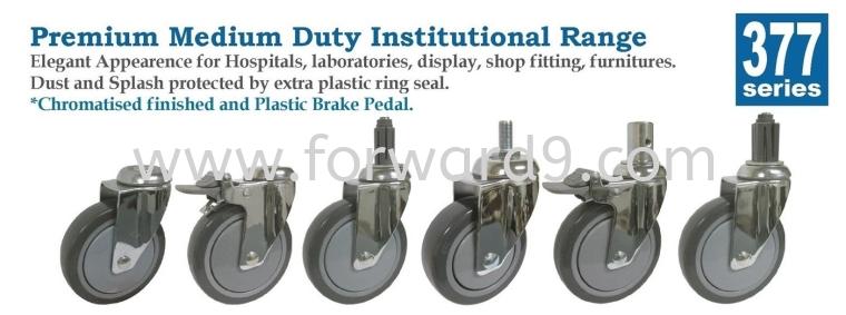 377 Series Bolt Hole Polyurethane Medical Castor Wheel  Medical Castor  Castors Wheel