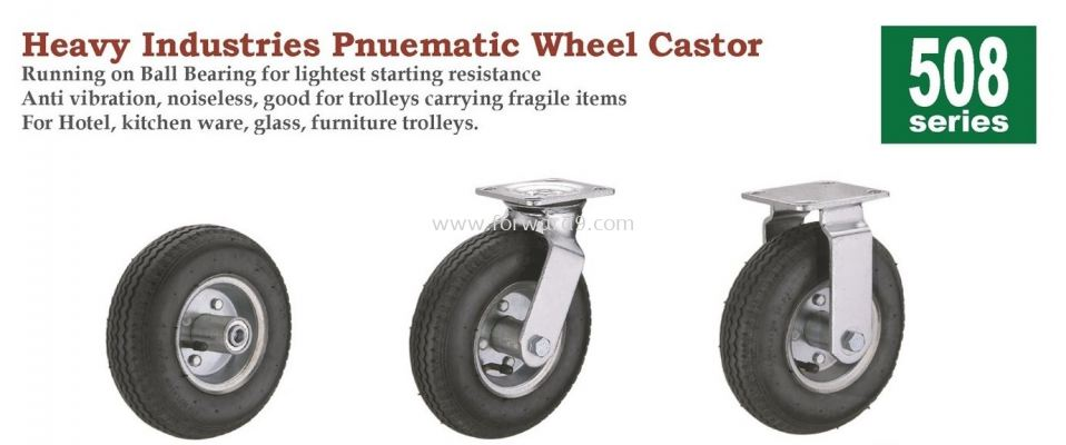 508 Series Top Plate Pnuematic Castor Wheel