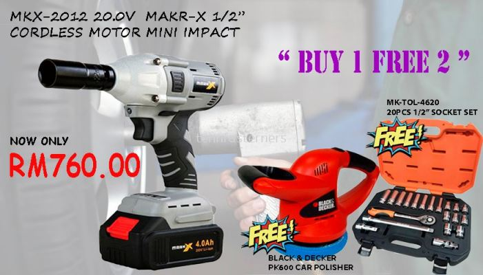 "MKX-2012 20.0V MARK-X 1/2"" CORDLESS MOTOR MINI IMPACT"