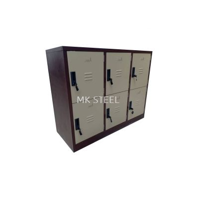 HALF HEIGHT 6 COMPARTMENT LOCKER