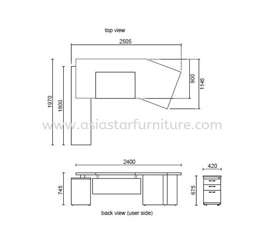 LUXURY EXECUTIVE DIRECTOR OFFICE TABLE SPECIFICATION 1 - Hot Item Director Office Table   Director Office Table Port Klang   Director Office Table Sri Hartamas   Director Office Table Mont Kiara