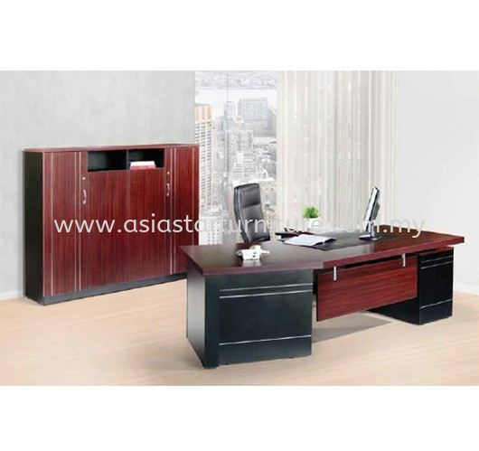 LUXURY EXECUTIVE DIRECTOR OFFICE TABLE WITH HIGH OFFICE CABINET