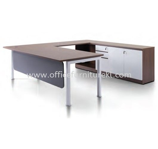 JAMEX EXECUTIVE L SHAPE MANAGER OFFICE TABLE WITH LOW OFFICE CABINET