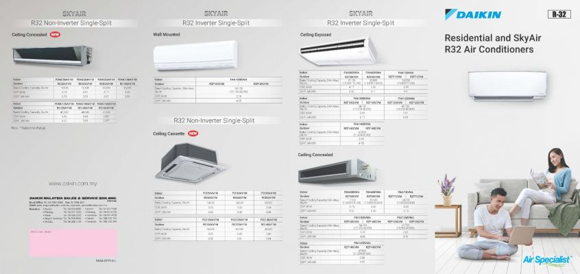 Daikin Residential and SkyAir R32 Air Conditioners