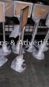Stainless Steel Stand A4, A3, Vertical or Horizontal Stainless Steel Stand