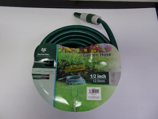 "WORTH GARDEN HOSE SET (1/2"" [12.5MM] HOSE DIA.) + GUN & CONNECTORS"
