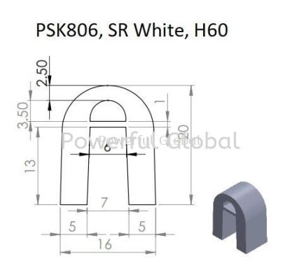 Silicone A Profile White PSK806