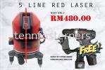 5 LINE RED LINE LASER LEVELLING Laser