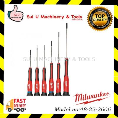 MILWAUKEE 48-22-2606 6 PC Precision Screwdriver Set with Case
