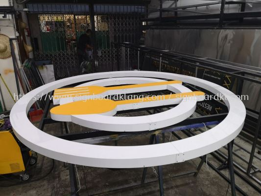 Food court Terrace 3D LED conceal Box up lettering Signage at Kuala Lumpur