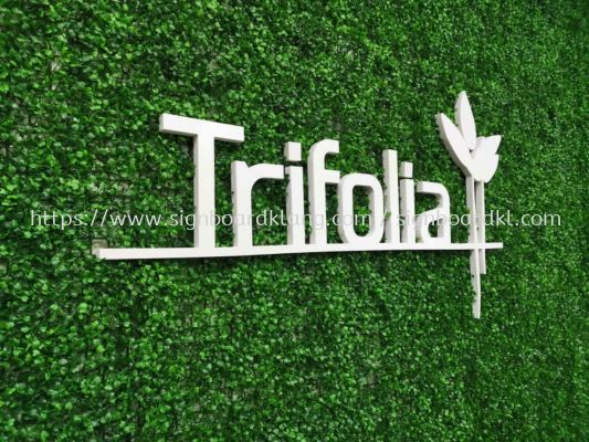 Trifolia 3D box up lettering signage at taman sentosa klang