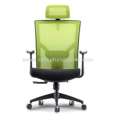 AERO 1 HIGH BACK MESH CHAIR C/W NYLON ROCKET BASE