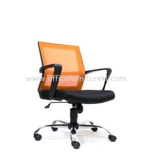 BRIGHTON LOW BACK ERGONOMIC MESH CHAIR WITH CHROME METAL BASE