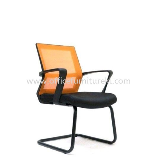 BRIGHTON VISITOR ERGONOMIC MESH BACK CHAIR C/W EPOXY BLACK CANTILEVER BASE
