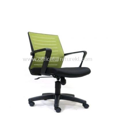 BURNLEY LOW BACK MESH CHAIR WITH POLYPROPYLENE BASE ASE 2736