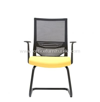 CARLTON VISITOR MESH CHAIR C/W EPOXY BLACK CANTILEVER BASE
