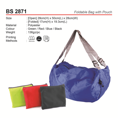 BS2871 Foldable Bag with Pouch