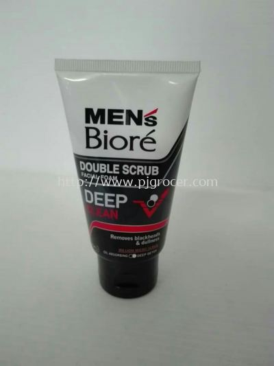 Men's Biore Double Scrub Facial Foam Deep Clean 50gm