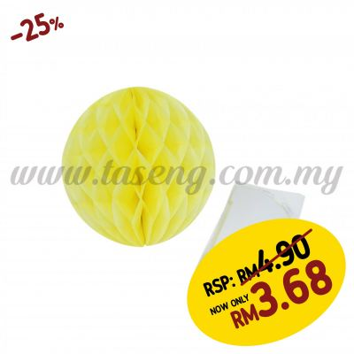 20cm Honeycomb Ball Yellow (PD-HC20-03)