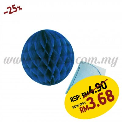 20cm Honeycomb Ball Dark Blue (PD-HC20-13)