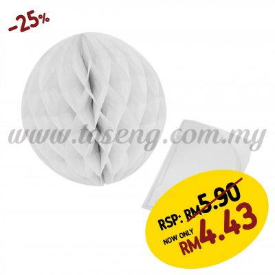 25cm Honeycomb Ball White (PD-HC25-14)