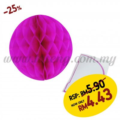 25cm Honeycomb Ball Magenta (PD-HC25-07)