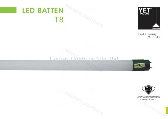 LED Batten T8 YETPlus 30W 4FT sirim