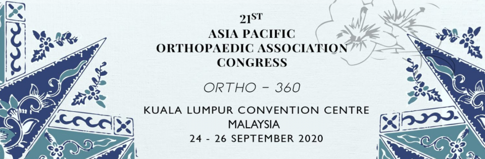 Asia Pacific Orthopaedic Association Congress September 2020