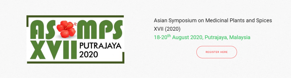 Asian Symposium on Medicinal Plants and Spices XVII (2020) August 2020