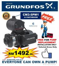 Grundfos CM3-5PM1 (0.8HP) FREE PUMP REPLACEMENT INSTALLATION SERVICE IN KL & KLG AREAS ONLY.