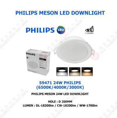 PHILIPS MESON LED DOWNLIGHT 24W 59471