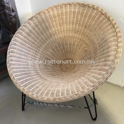 RATTAN + METAL LOUNGE CHAIR BOWL