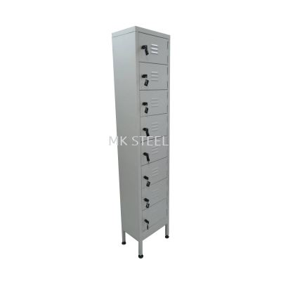 CUSTOM MADE 8 COMPARTMENT LOCKER WITH ADJUSTABLE LEG