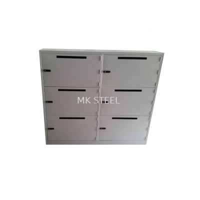 6 COMPARTMENT LOCKER WITH ENVELOPE HOLE - COMBINATION LOCK