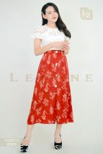 63079 FLORAL MIDI SKIRT 【1ST 10% 2ND 15% 3RD 20%】