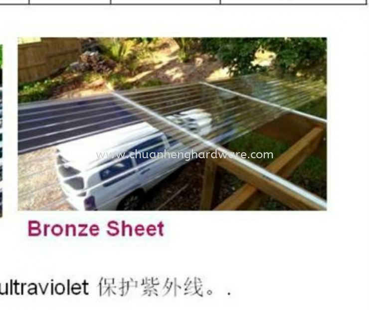 Brown colour transparent zinc sheet