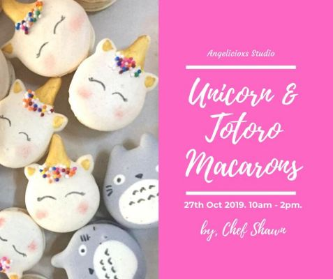 Unicorn And Totoro Macarons Workshop