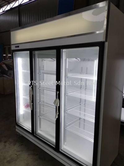 3 door display chiller-black