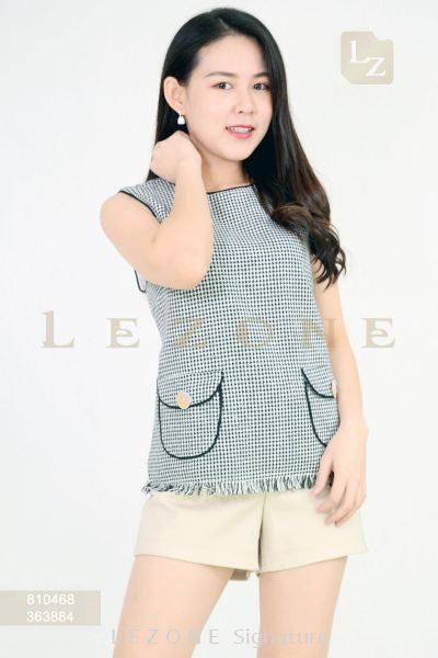 810468 LINEN SLEEVELESS BLOUSE��2ND 50%��