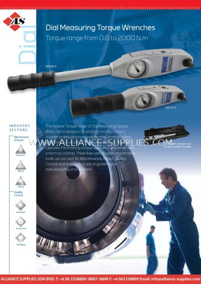 Dial Measuring Torque Wrenches - Torque Range from 0.8 to 2000 N.m