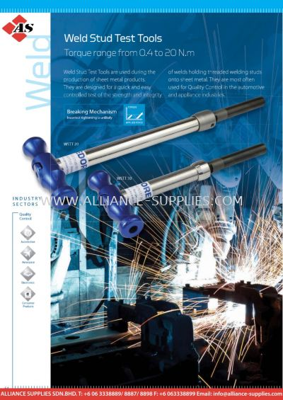 Weld Stud Test Tools - Torque Range from 0.4 to 20 N.m