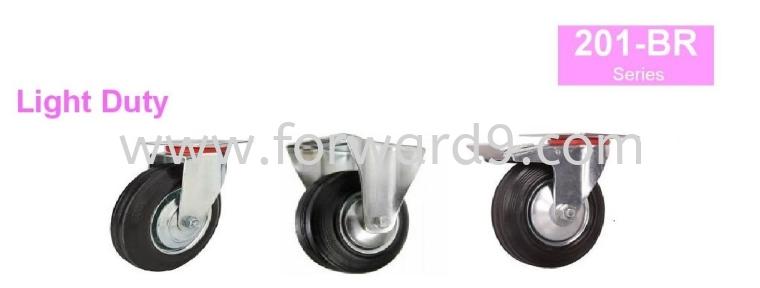201-BR Series Top Plate Black Rubber Castor Wheel  Light Duty Castor  Castors Wheel