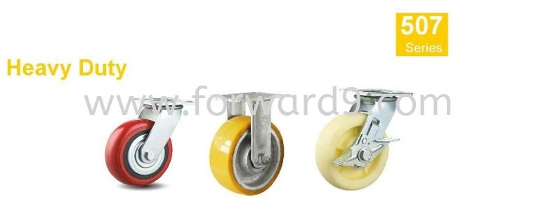 507 Series - Eazy Top Plate Polyurethane , Nylon Castor Wheel  Heavy Duty Castor  Castors Wheel