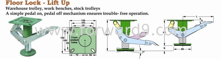 Floor Lock  Floor Lock  Castors Wheel