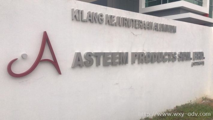 ASTEEM PRODUCTS SDN. BHD. Stainless Steel Box Up Signboard